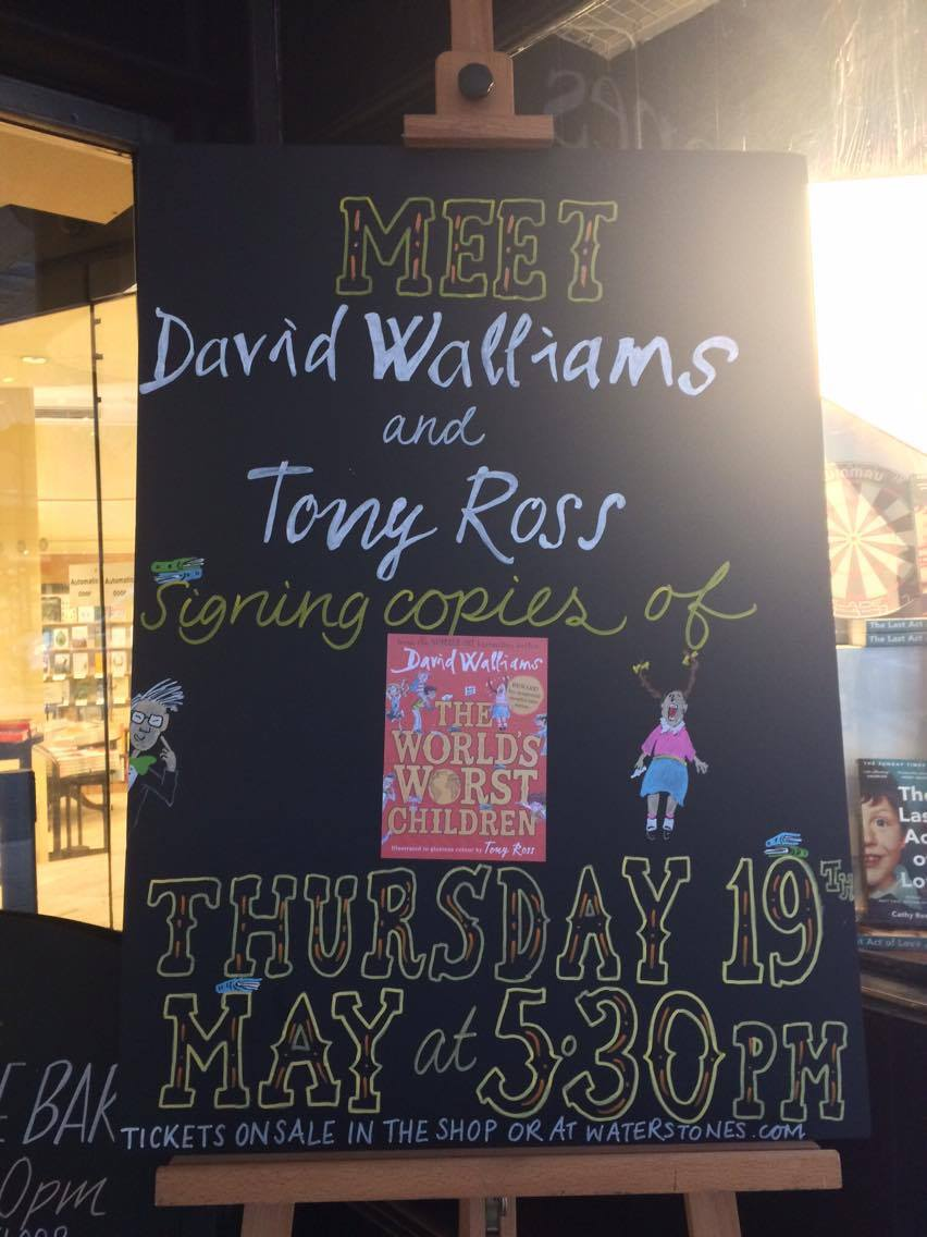 Did you meet David Walliams and Tony Ross?