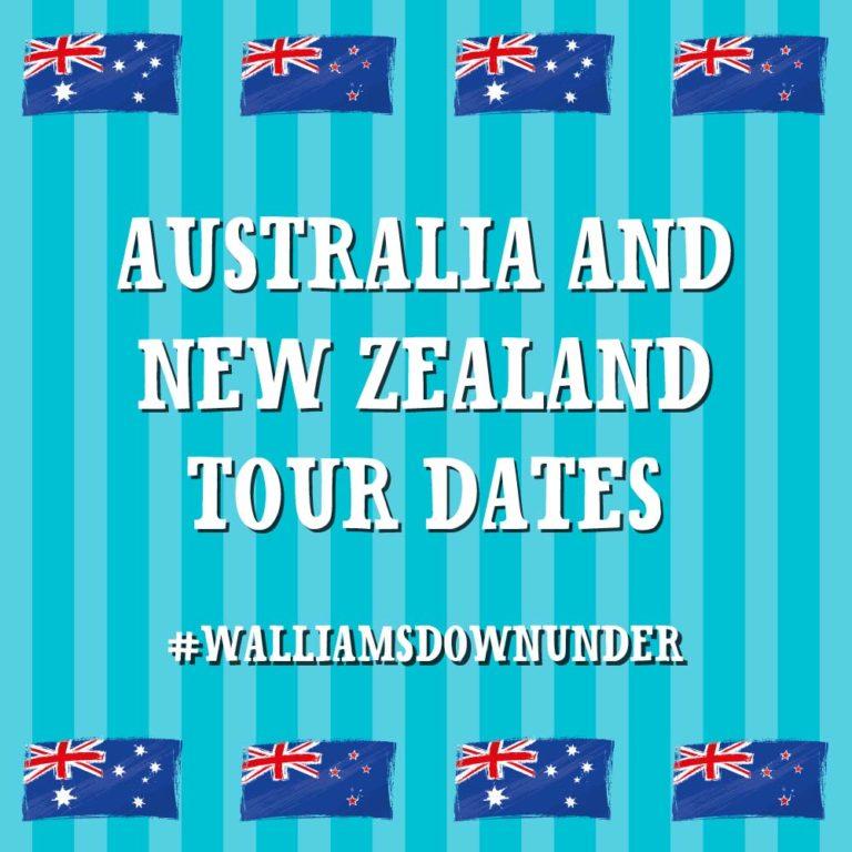 DAVID WALLIAMS VISITS AUSTRALIA & NEW ZEALAND!