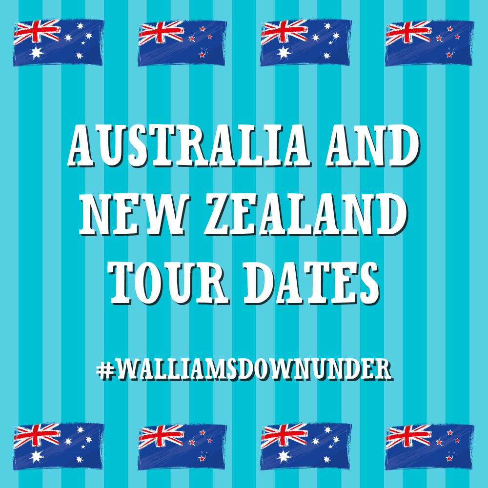 DAVID WALLIAMS VISITS AUSTRALIA & NEW ZEALAND!