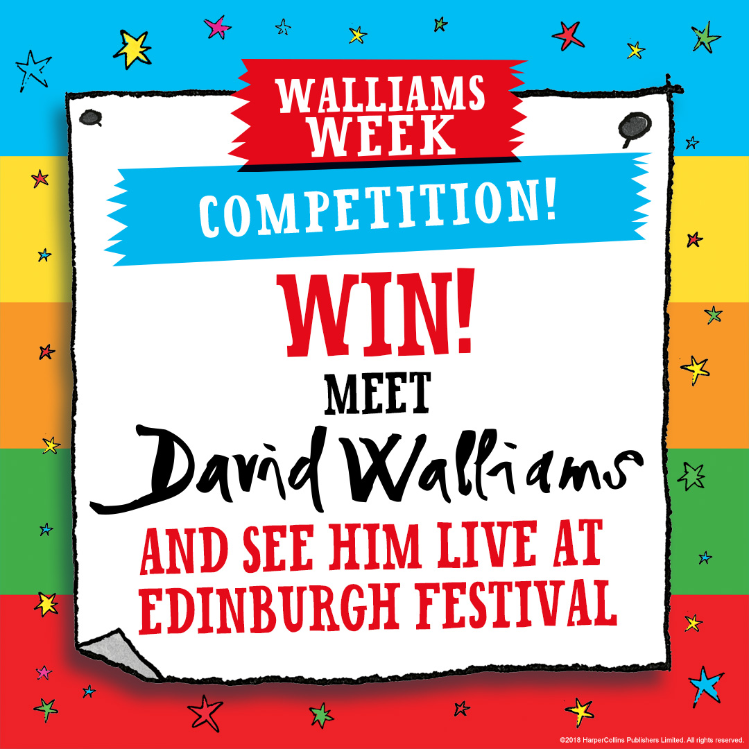 Win Meet David Walliams At The Edinburgh International Book