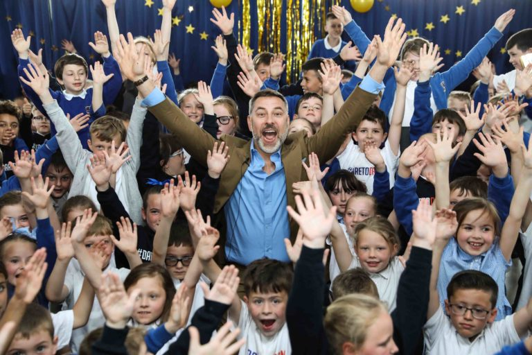 David visits his Britain's Got Talent Golden Buzzer act Flakefleet Primary School!