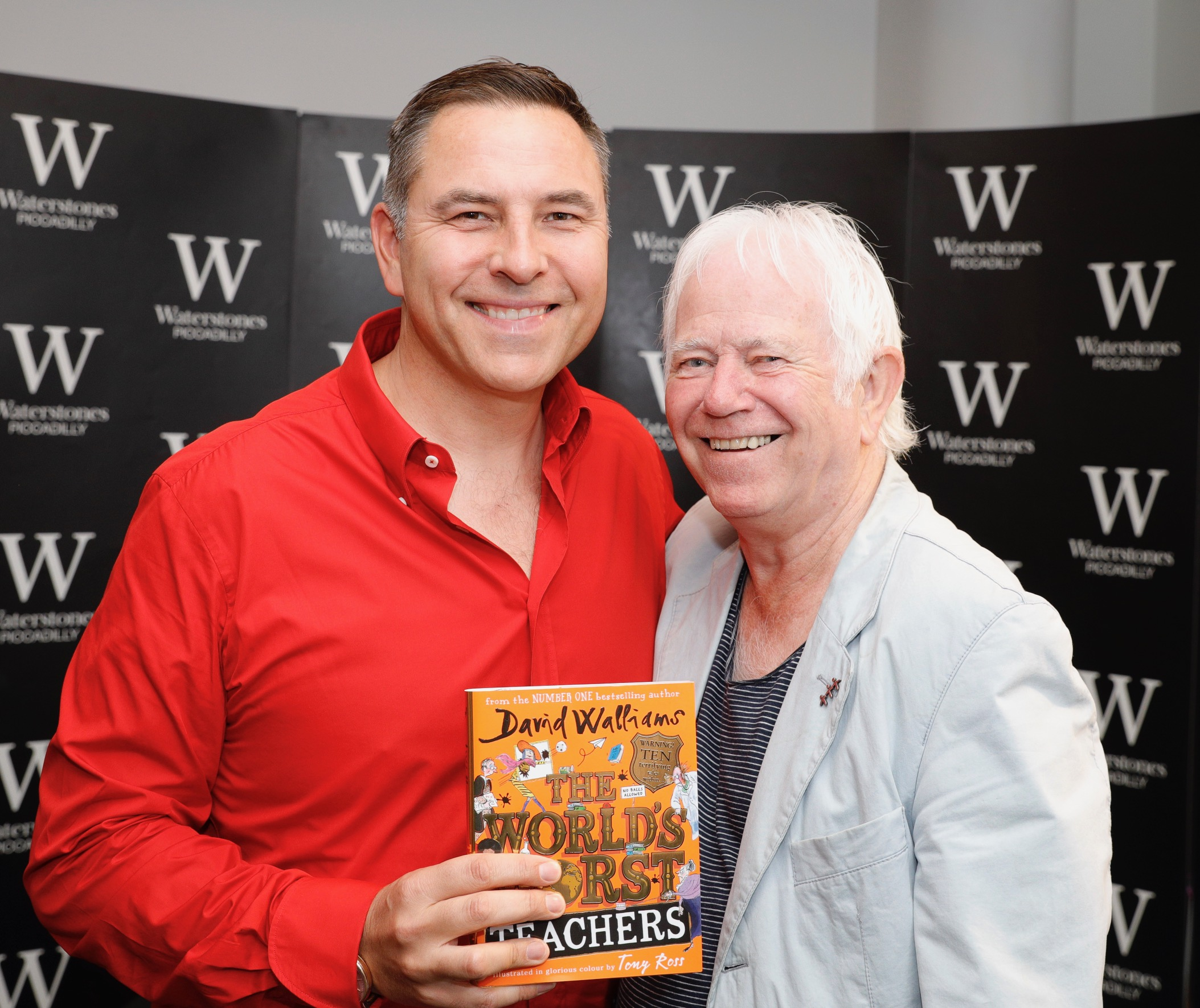David Walliams and Tony Ross at Waterstones Piccadilly!