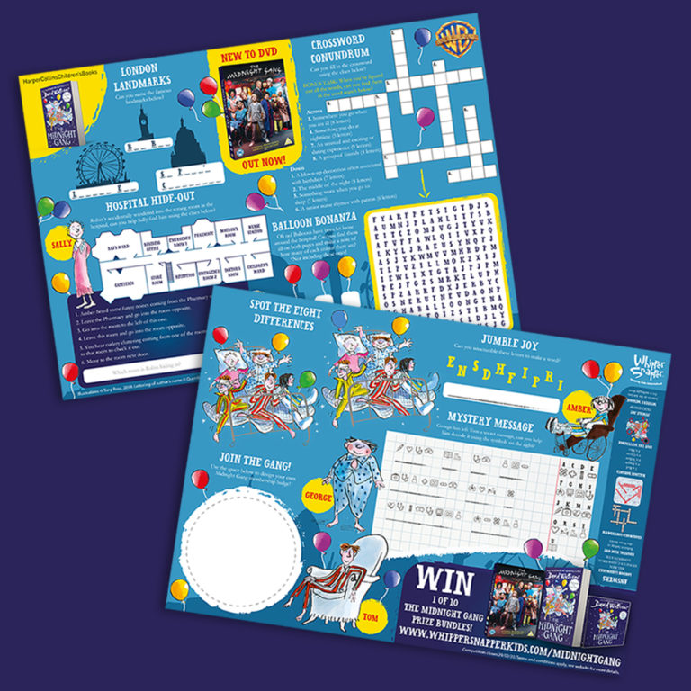 The Midnight Gang is out on DVD! Download these FREE activity sheets to celebrate!